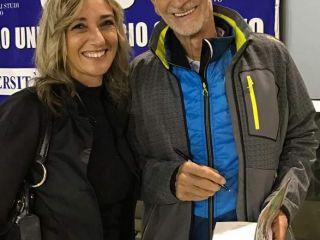 In 400 alla serata con Marco Olmo:  l'ultra runner piemontese fa il pienone al Cus Dalmine